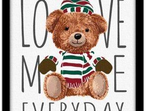 Αγάπα με κάθε μέρα Παιδικά Πίνακες σε καμβά 20 x 30 εκ.