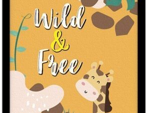 Καμηλοπάρδαλη στη φύση Παιδικά Πίνακες σε καμβά 20 x 30 εκ.