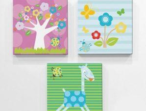 Φύση Παιδικά Mini Set καμβάς 25 x 25 cm