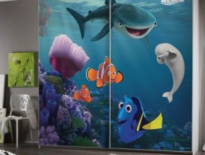 Dory at the bottom of the sea, Finding Dory! Παιδικά Αυτοκόλλητα ντουλάπας 100 x 100 εκ.