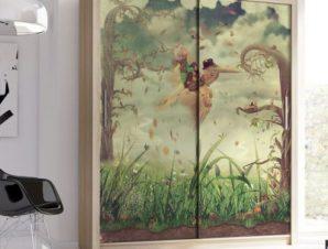 Φανταστικό τοπίο Παιδικά Αυτοκόλλητα ντουλάπας 100 x 100 εκ.