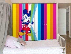 Πολύχρωμος, Μickey Mouse! Παιδικά Αυτοκόλλητα ντουλάπας 100 x 100 εκ.