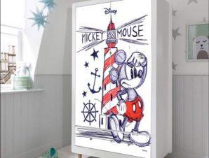 Lighthouse & Mickey Παιδικά Αυτοκόλλητα ντουλάπας 100 x 100 εκ.