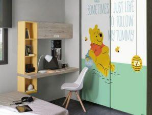Follow my tummy, Winnie the Pooh Παιδικά Αυτοκόλλητα ντουλάπας 100 x 100 εκ.