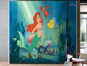 Η Ariel μέσα στη θάλασσα, Princess Παιδικά Αυτοκόλλητα ντουλάπας 100 x 100 εκ.