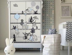 Η ζωή του Winnie the Pooh Παιδικά Αυτοκόλλητα ντουλάπας 100 x 100 εκ.