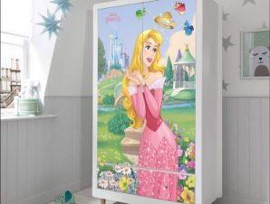 Aurora, Princess! Παιδικά Αυτοκόλλητα ντουλάπας 100 x 100 εκ.