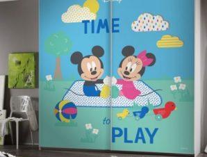 Ώρα για παιχνίδι, Mickey και Minnie Παιδικά Αυτοκόλλητα ντουλάπας 100 x 100 εκ.
