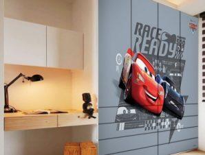 Race Ready, Cars Παιδικά Αυτοκόλλητα ντουλάπας 100 x 100 εκ.