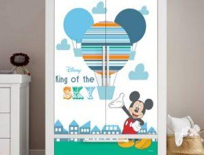 Ο βασιλιάς του ουρανού, Mickey Mouse Παιδικά Αυτοκόλλητα ντουλάπας 100 x 100 εκ.