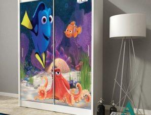 Χαρούμενη Dory στο βυθό της θάλασσας Παιδικά Αυτοκόλλητα ντουλάπας 100 x 100 εκ.