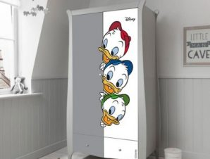 Χιούη, Λιούη και Ντιούη Παιδικά Αυτοκόλλητα ντουλάπας 100 x 100 εκ.