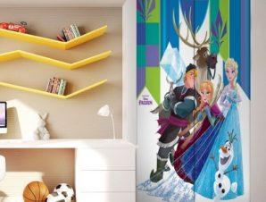 Kristoff, Olaf, Sven, Anna, Elsa Παιδικά Αυτοκόλλητα ντουλάπας 100 x 100 εκ.