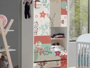 Μωρουδιακό μοτίβο Παιδικά Αυτοκόλλητα ντουλάπας 100 x 100 εκ.