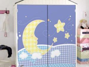 Φεγγαράκι μου λαμπρό… Παιδικά Αυτοκόλλητα ντουλάπας 100 x 100 εκ.