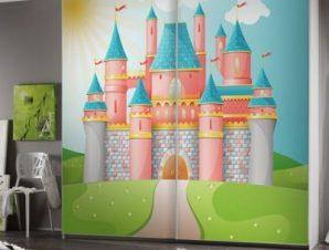 Παραμυθένιο κάστρο Παιδικά Αυτοκόλλητα ντουλάπας 100 x 100 εκ.