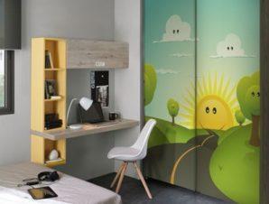 Καλοκαιρινό τοπίο Παιδικά Αυτοκόλλητα ντουλάπας 100 x 100 εκ.