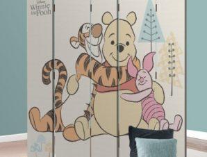 Ο Winnie και οι φίλοι του! Παιδικά Παραβάν 80 x 180 εκ. [Δίφυλλο]