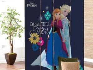 Οι Όμορφες Αδερφές, Frozen Παιδικά Παραβάν 80 x 180 εκ. [Δίφυλλο]