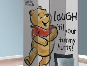 Γέλα μέχρι να πονέσει η κοιλιά σου, Winnie the Pooh Παιδικά Παραβάν 80 x 180 εκ. [Δίφυλλο]