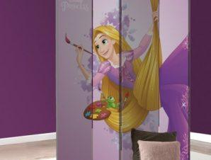 Η Rapunzel ζωγραφίζει! Παιδικά Παραβάν 80 x 180 εκ. [Δίφυλλο]