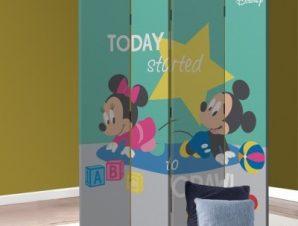 Today I started to crawl, Minnie & Mickey Mouse Παιδικά Παραβάν 80 x 180 εκ. [Δίφυλλο]