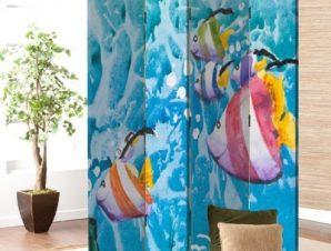 Ψάρια στον βυθό Παιδικά Παραβάν 80 x 180 εκ. [Δίφυλλο]