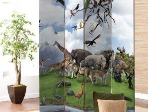 Άγρια Ζώα Παιδικά Παραβάν 80 x 180 εκ. [Δίφυλλο]