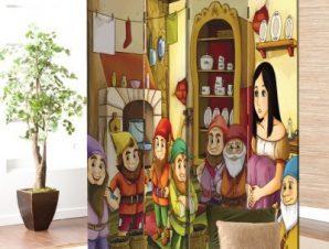 Η Χιονάτη και οι Επτά Νάνοι Παιδικά Παραβάν 80 x 180 εκ. [Δίφυλλο]