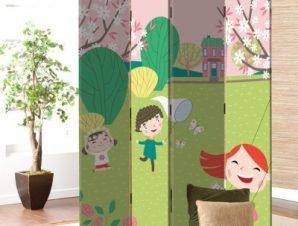 Παίζοντας Στην Φύση Παιδικά Παραβάν 80 x 180 εκ. [Δίφυλλο]