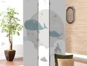 Φάλαινες Παιδικά Παραβάν 80 x 180 εκ. [Δίφυλλο]
