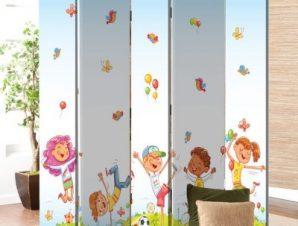 Χαρούμενα Παιδάκια Παιδικά Παραβάν 80 x 180 εκ. [Δίφυλλο]