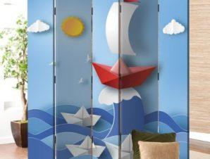 Φουρτουνιασμένη Θάλασσα Παιδικά Παραβάν 80×180 cm [Δίφυλλο]