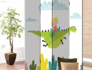 Ιπτάμενος Δεινόσαυρος Παιδικά Παραβάν 80 x 180 εκ. [Δίφυλλο]