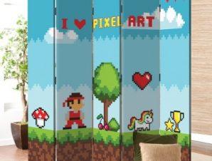 Pixel Art Παιδικά Παραβάν 80×180 cm [Δίφυλλο]