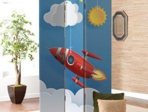 Πύραυλος Παιδικά Παραβάν 80×180 cm [Δίφυλλο]
