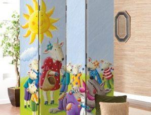 Τροπικά Ζωάκια Παιδικά Παραβάν 80×180 cm [Δίφυλλο]