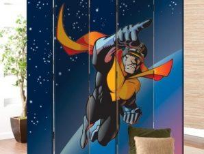 Σούπερ Ήρωας Παιδικά Παραβάν 80 x 180 εκ. [Δίφυλλο]