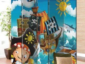 Πειρατές Παιδικά Παραβάν 80 x 180 εκ. [Δίφυλλο]