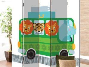 Λεωφορείο Παιδικά Παραβάν 80 x 180 εκ. [Δίφυλλο]