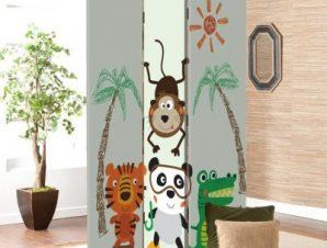 Μικρά ζωάκια της ζούγκλας Παιδικά Παραβάν 80 x 180 εκ. [Δίφυλλο]