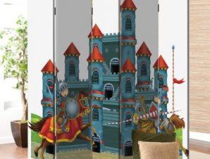 Κάστρο Παιδικά Παραβάν 80 x 180 εκ. [Δίφυλλο]