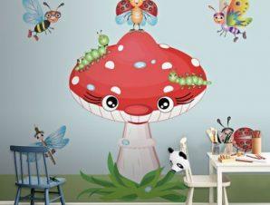 Μανιτάρι Παιδικά Ταπετσαρίες Τοίχου 100 x 100 εκ.