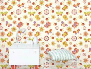 Πεταλούδες Παιδικά Ταπετσαρίες Τοίχου 100 x 100 εκ.