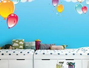 Μπαλόνια στον ουρανό Παιδικά Ταπετσαρίες Τοίχου 79 x 120 cm