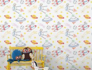 Ζωγραφιά Παιδικά Ταπετσαρίες Τοίχου 100 x 100 cm