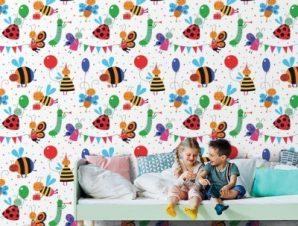Μελισσούλες Παιδικά Ταπετσαρίες Τοίχου 100 x 100 εκ.