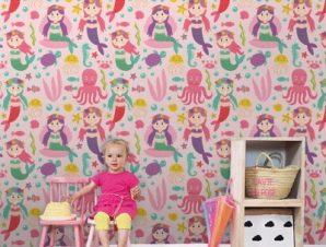 Γοργονίτσες Παιδικά Ταπετσαρίες Τοίχου 100 x 100 cm