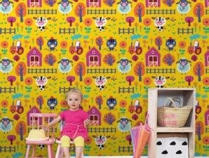Χαρούμενες Μέρες Στην Εξοχή Παιδικά Ταπετσαρίες Τοίχου 100 x 100 cm