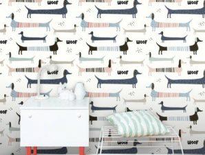 Woof! Παιδικά Ταπετσαρίες Τοίχου 100 x 100 cm